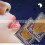 Natural Jelly Lip Balm With OEM ODM Service collagen crystal Whitening 24K Nano Pure gold lip mask for lip skin beauty
