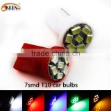 Wholesale 12V T10 7SMD 1206 Car LED Auto Light Bulb W5W/194/T10 LED Parking Light Clearance Lamp                                                                         Quality Choice
