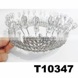adult candy full round circle crystal pageant crowns wholesale