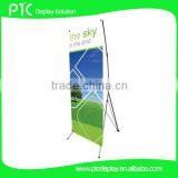 X frame banner with iron pole and fibreglass pole                                                                         Quality Choice