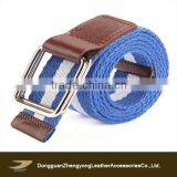 Stripe pattern uniform fabric belt, casual jean belts for kids