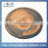 souvenir zinc alloy custom 3D shape antique copper old charactor coin                                                                         Quality Choice