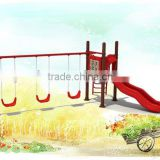 Children 4-Seat Swing Chair Metal Garden Cushions