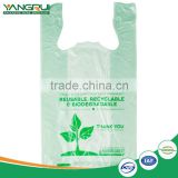 plastic t-shirt bag 100% biodegradable shopping bag                                                                                                         Supplier's Choice