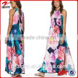 Cut out back chiffon maxi dress woman wear simple long dress                                                                         Quality Choice