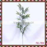 H76cm Green Plastic Artificial Plant Mini Bamboo Leaves Branch