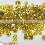 Natural Yellow Color Brilliant Round Cut Diamonds for Jewelery