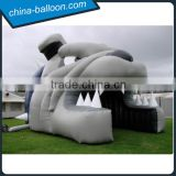 Inflatable football animal head tunnels/ entrance arch for sports game