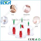 Chinese Healthy Famale Cupping Therapy Magnet Massage Suction Vacuum Therapy Cups 12 pcs