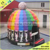 Kids inflatable disco dome, cheap disco dome bounce houses, disco dome inflatable bounce house