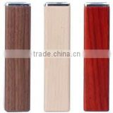 2015 new product aa 18650 battery wooden deisgn wood 2600mah hand crank dynamo power bank for iphone 6