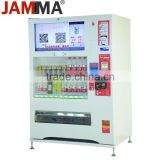 combo vending machine with bright LED /water vending machine with all metal cabinet indoor playground 24 hours service