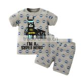 2016 baby night suit summer grey baby cotton suit
