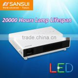 2000 Hours Lamp Lifespan LED Home Cinema Battery of 12000 mA DLP hd mini led projector 3d 1080p