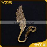 factory custom made zinc alloy material bronze plated bookmark