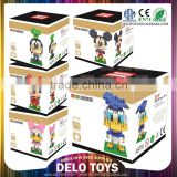 fast selling products wholesale plastic diamond bricks assemble toys Mickey Mouse blocks DE0260084