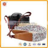 High quality custom logo leather camera ncek strap for China , custom good quality leather neck sling
