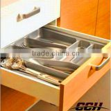 OEM accepted plastic cutlery tray,Kitchen Cabinet Drawer Cutlery Organzier Storage Box Plastic Material