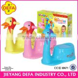 plastic toilet trainer baby potty seat with animal head(with ASTM EN71)