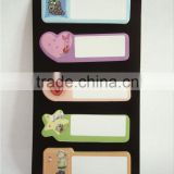 different letter shaped sticky notes