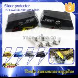 Motorcycle cnc parts Flame slider protector for kawasaki z800