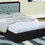 2015 Hot sale lift up storage bed, New design Modern PU faux leather gas lift storage bed
