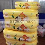 yellow pvc bath tub for baby small round bathtub inflatable whirlpool