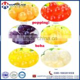 popping boba fruit balls for bubble tea, lychee boba for boba tea, low price boba supplies