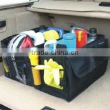High quality Car Boot Tidy Bag Organiser Organize Bag Auto Storage Box Multi-use Waterproof Fabric as seen on TV