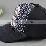Ms of sponge naked marriage age leisure male duck tongue cap Black mesh hat