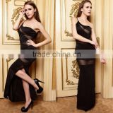 High quality sexy party dresses,ladies One shoulder strap sexy maxi evening dress