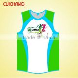 wholesale heat transfer/silk screen print polyester/cotton custom design tank top Gym Singlets YDBX-070
