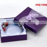 Dark Purple Jewelry Gift Boxes Display for Bracelet &Watch Fit European Charm 90mmx90mmx30mm, sold per packet of 6,8seasons