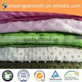 Changshu100% polyester factory super soft minky dot fabric for baby blanket/toy