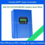 IPANDA 30A mppt solar charger controller LCD 30A 96V Smart PV Regulator for 3000w 3kw solar system