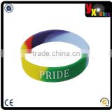 Gay Pride - (Various Quantities) Rainbow Silicone Wristband/china wholesale
