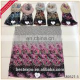 hot sale summer chiffon girls printed scarf in stock fashionable hijab turkish pashmina shawl