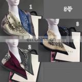 Factory design fashionable 100 polyester silk scarf for women