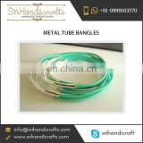 New Arrival Latest Trendy Design Metal Tube Bangles for Best use