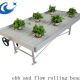 High Sale Hydroponic System Table Ebb And Flow Rolling Benches( with gray/white tray)