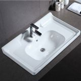 Bathroom chinese wholesale good price best quality chaozhou white ceramic countertop wash basin sink for cabinet