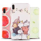 For HUAWEI P20 Cartoon Mobile Phone Shell IMD Flexible Soft TPU Glossy case for HUAWEI p8 lite Nova2i