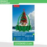 Christmas tree decoration educational game 105pcs 3d wooden puzzle