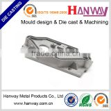 OEM customize aluminum die casting sand blasting powder coating led ceiling light bracket parts