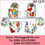Professional Hot Sale Valentine's Ceramic Promotion Water Cups with Lid Made in China