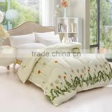 full queen size ling color plant print cashmere surface fabric home use wholesale comforter sets bedding