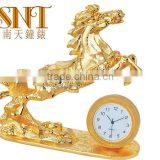 travel clock luxury golden business gift clock
