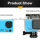 Full HD 1080P X5 2K Wifi Sports action Camera , 60fps 2inch Screen sports camera withremote control