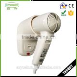 High quality 220V hotel professional wall mounted hair dryer 1200W warm air YK9802