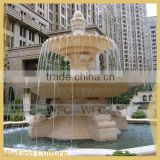 Artificial Landscape Round Stone Waterfall Fountain for Garden